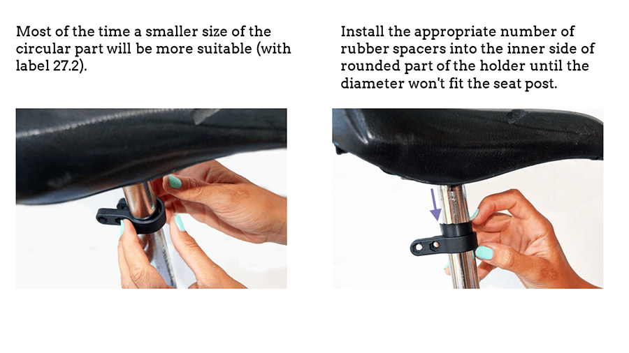 How to install holder for bike plate