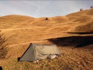 Autumn camping.