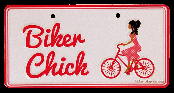 bike plate biker chick