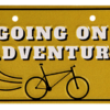 bike plate going on adventure