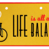 bike plate life is all about balance