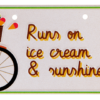 bike plate runs on ice cream
