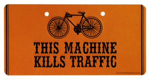 this machine kills traffic bike plate