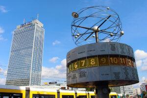 World clock in Berlin