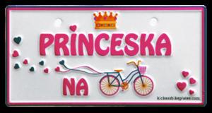 Princeska na kolesu tablica za kolo