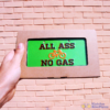 All Ass No Gass bike plate